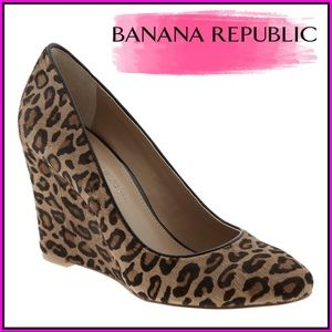 Banana Republic Leopard Wedges